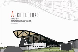creative architecture concept background vector