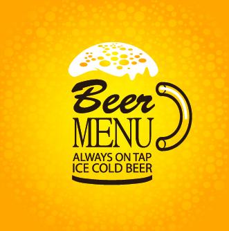Creative Beer Poster Design Vector