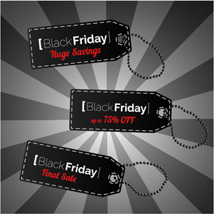 creative black friday tags vector