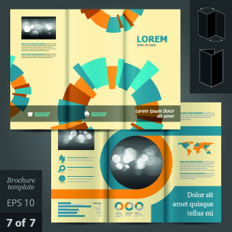 creative business brochure and booklet design vector free vector in