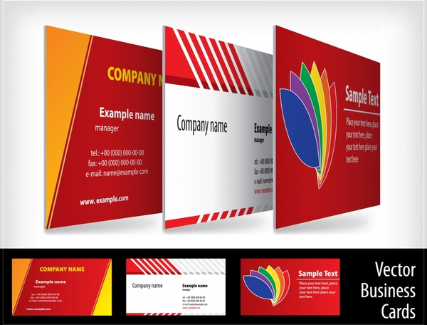 business card templates elegant modern colorful flat decor