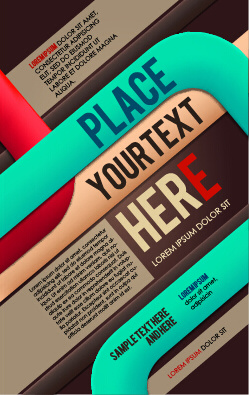 creative business cover templates vector set