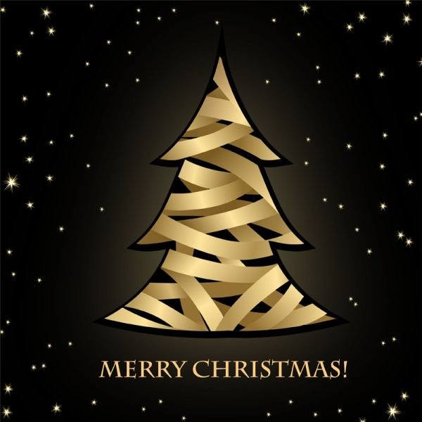 creative christmas tree 01 vector