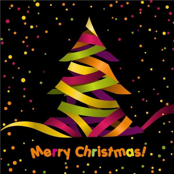 creative christmas tree 04 vector