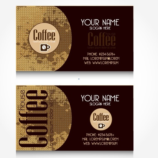 Creative coffee business card vector free vector in encapsulated creative coffee business card vector flashek Images