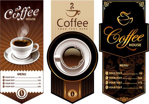 creative coffee menu cover background vector
