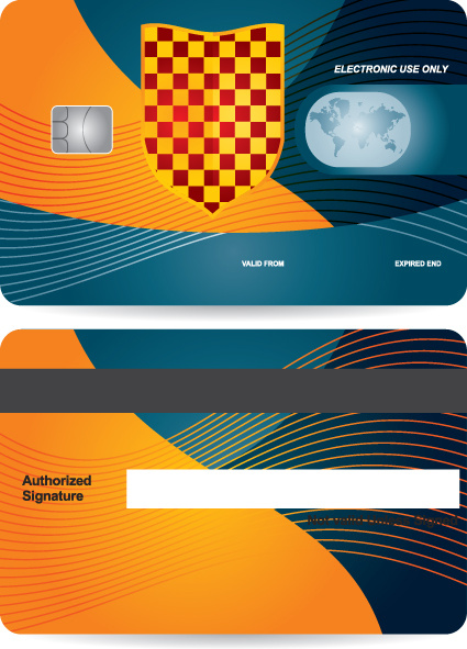 creative credit card design vector