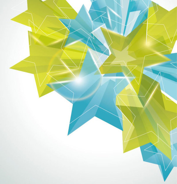creative five pointed star vector background