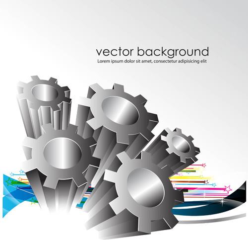 creative gears vector background art