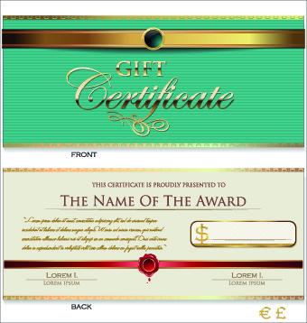 Creative Gift Certificate Template Vector Free Vector In