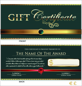 creative gift certificate template vector