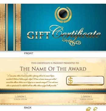 creative gift certificate template vector