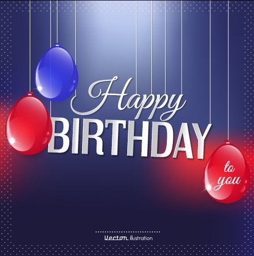 Happy Birthday Background Template Free Vector Download