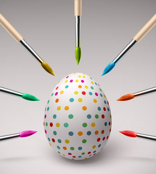 creative happy easter egg vector backgrounds