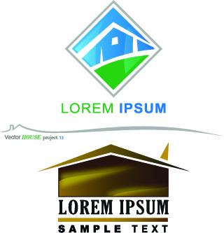 creative house vector logos