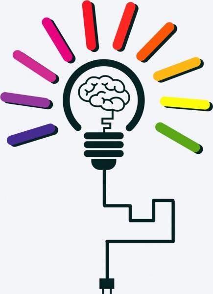 Creative Idea Concept Brain Light Bulb Sketch Design