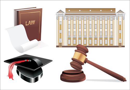 creative law elements vector set