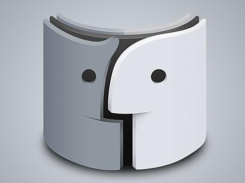 Creative Mac Finder Icon PSD