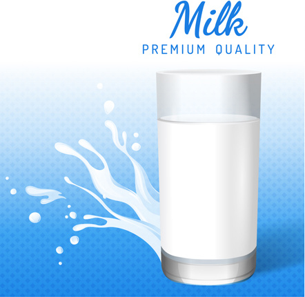 Creative Milk Poster Design Vector Graphics