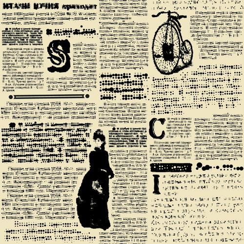 creative newspaper design elements vector set free vector in