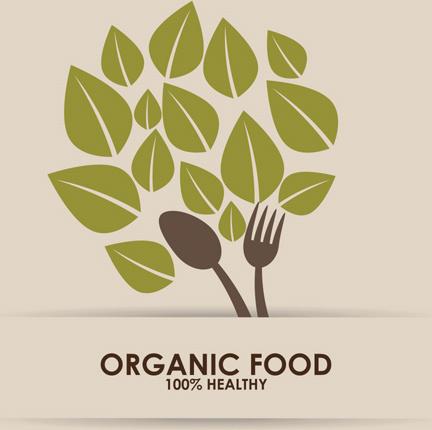 creative organic food logo vector