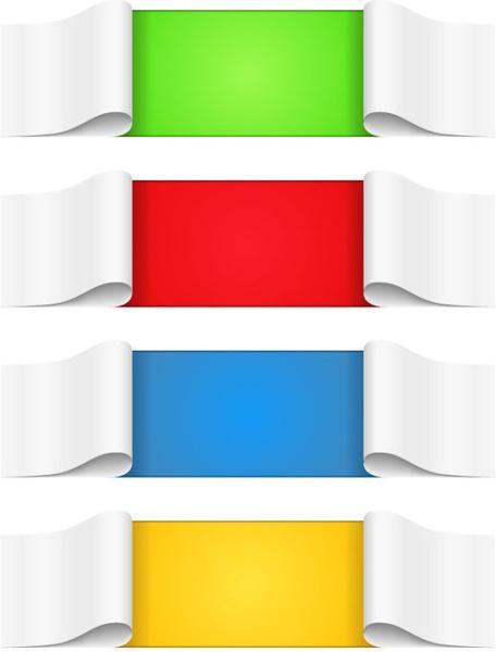 creative paper scrolls banner vector