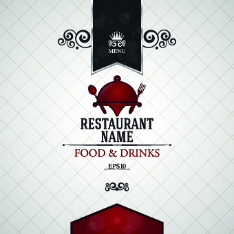 creative restaurant menu covers vector graphic