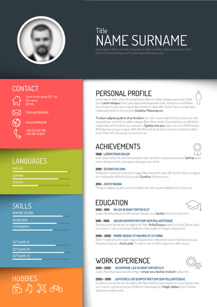 resume free vector download  58 free vector  for commercial use  format  ai  eps  cdr  svg