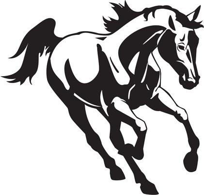 creative running horse design vector set