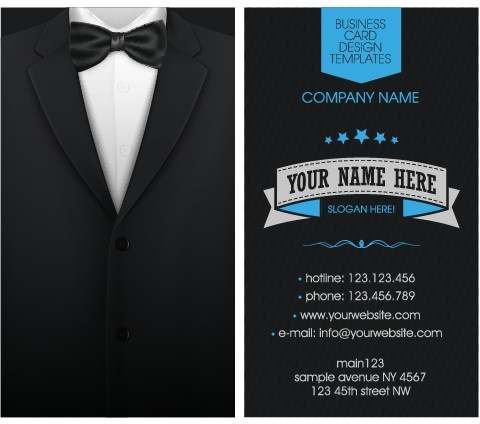 creative suit with business cards vector set
