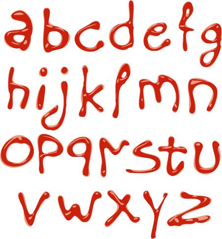 creative tomato ketchup text vector