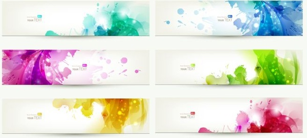 abstract background sets colorful sparkling watercolor grunge decor
