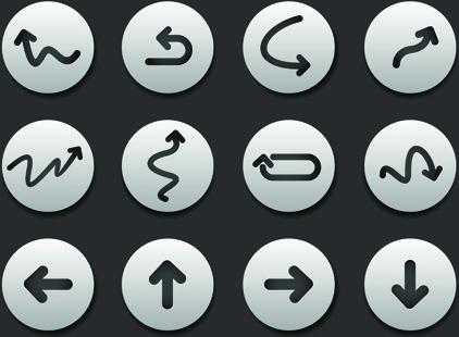 creative web icon buttons design vector