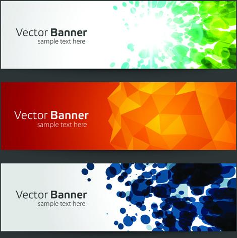 creative website headers banner vector set