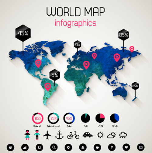 Creative world map and infographics vector graphics free vector in creative world map and infographics vector graphics gumiabroncs Images