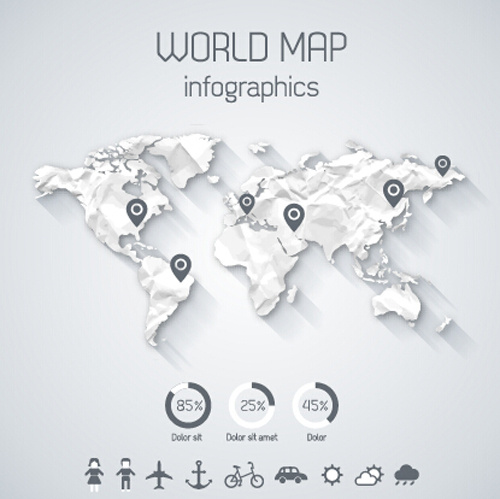 Creative world map and infographics vector graphics free vector in creative world map and infographics vector graphics gumiabroncs Gallery