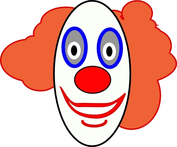 Creepy Clown Face Clip Art Free Vector In Open Office Drawing Svg