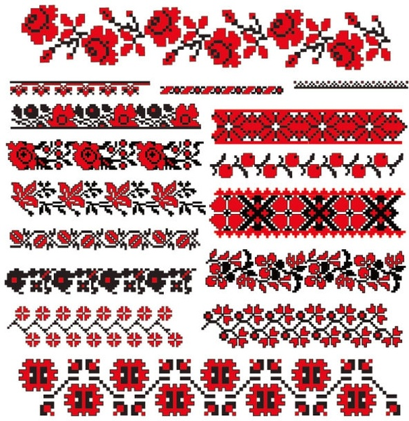 Cross stitch patterns 07 vector Free vector in Encapsulated