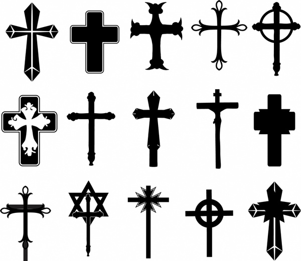 Cross Symbols Free Vector In Adobe Illustrator Ai