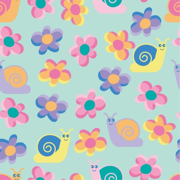 crucible continuous background lovely vector flowers cattle