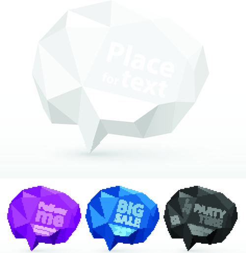 crumpled paper for speech bubbles vector