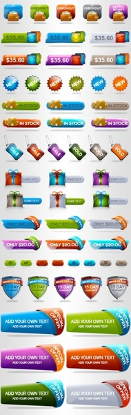 crystal texture shopping theme button psd layered
