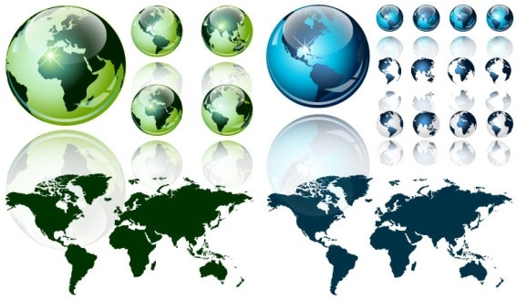 crystal world map vector texture of the earth
