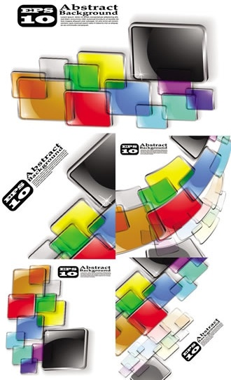 abstract background templates colorful transparent squares motion decor