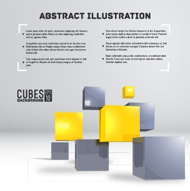 cubes abstract background art vector