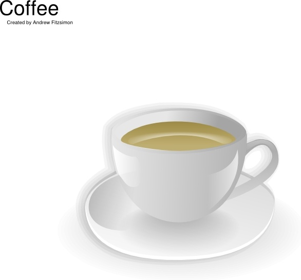 cup of coffee clip art free vector in open office drawing