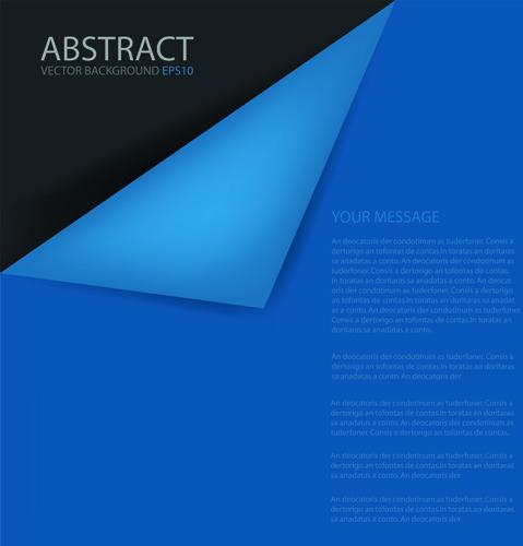 curled corner paper vector background set