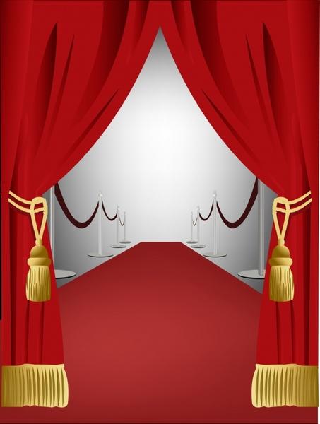 stage background elegant 3d design curtain icon