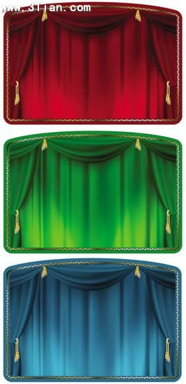 theater curtain background templates classical colored 3d design