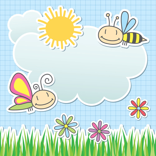 Vector baby background texture free vector download - Baby background ...